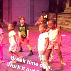 ...but once they hear Ciara, break time was over!