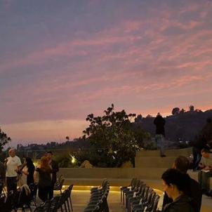 Sunset on The Zev . . #hollywood #sunset #fordtheatres