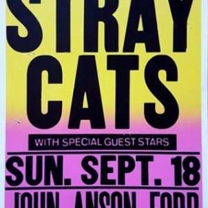 Image from http://instagram.com/fordtheatres: Flashback to 1988 when the Stray Cats were headlining at...