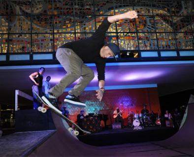 Skater performing in Finding a Line